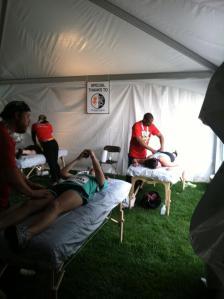 Necessary post race massage.