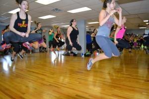 I jump. Copyright Kam Jamz Fitness