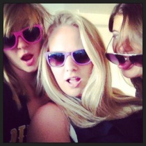 Being silly in our sunglasses. :)